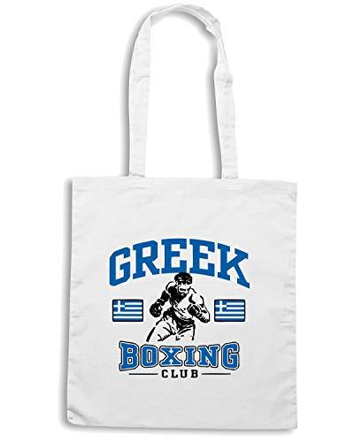 Borsa GREEK TBOXE0020 Shirt BOXING Bianca Speed LIGHT Shopper fTvzwxHq