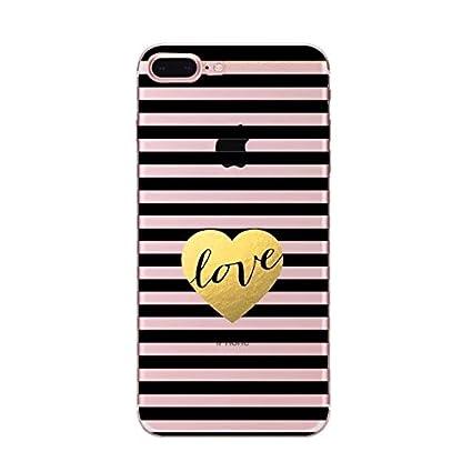 Amazon.com: iPhone 5 funda transparente, Anya rayas de ...