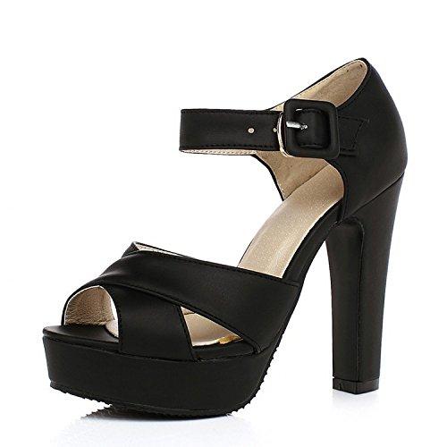 78caf33f Barato PPFME Zapatos De Mujer Peep Toe Block Tobillo Strappy Platform Heels  Wedding Dancing Court Shoes