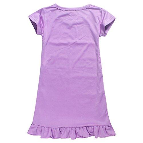 Notte Principessa Purple2 Stampato Pigiameria Estate Pigiami Abito Camicia Da Fit Cartone Thombase Animato Bambine Da Allentate Comodo AqR6SPw
