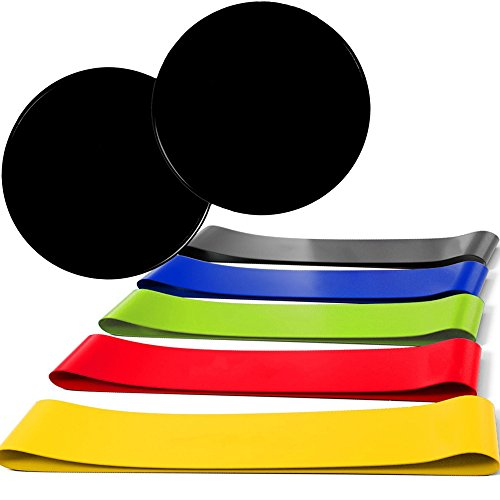EPOCHMA Loop Resistance Bands and Exercise Sliders Set - Ful