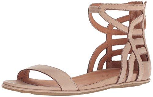 (Gentle Souls by Kenneth Cole Women's Larisa Flat Sandal with Gladiator Ankle Straps Sandal, hazel, 6.5 M US)