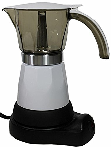 Electric Espresso Coffee Maker. 3 to 6 cups adjustable capacity. Silver finish by Sentir Cubano