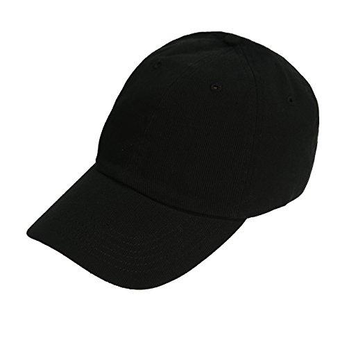 Bio Washed Unstructured Cap - Bio-Washed Unstructured Strapback Cap (Black)