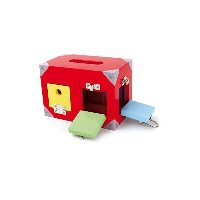 417AayQ7USL Una caja con muchas ventanas y puertas de colores. Todos están equipados con diferentes cierres. Aquí se necesita atención y resistencia.