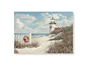 Amazon.com: Peaceful Shore Holiday Lighthouse Boxed Christmas ...