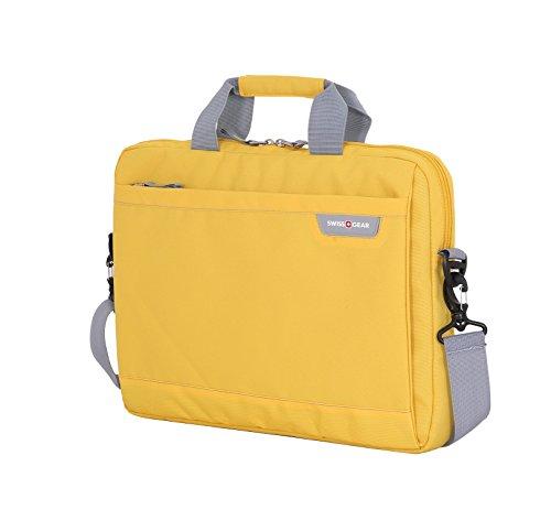 Swiss Gear Cross Body Laptop Sleeve Carrying Case, Yellow