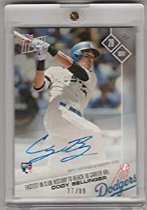 2017 Topps Now Auto #194A Cody Bellinger Fastest to 10 HR Dodgers 77/99