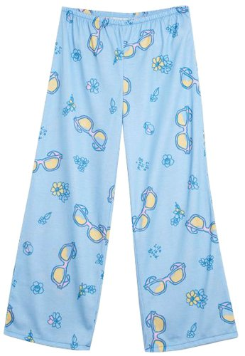 Sleep Pant Girls Is Life Good (Life is good Tossed Sunglasses Sleep Pants, Sky, Small)