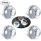 YeeTeching Child Proof Clear,Clear Stove Knob Covers- Child Safety Guards for Baby/Children,Stove Guard Oven Lock Child Safety Large Universal Design - Baby Proof (4 Pack)