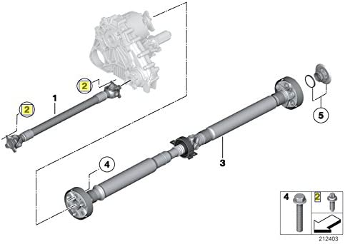 BMW Torx Bolt Screw M8 x 1.25 x 19 mm Grade 10.9 7529387 26117529387
