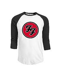 Foo Fighters Logo Men's Raglan Baseball Jerseys T Shirts