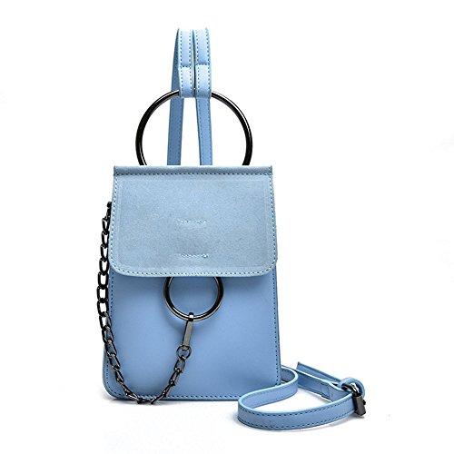 Kigurumi Mujer Bolsos bandolera Crossbody Moda Bolsas Hombro Azul