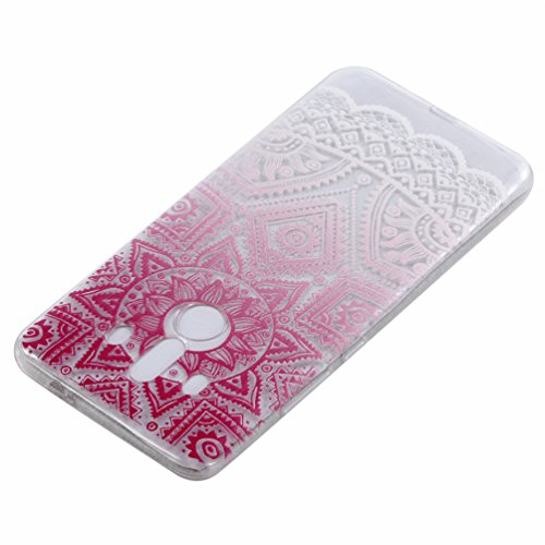 GZXiXi Huawei Mate 10 Pro Funda transparente de silicona Funda suave flexible TPU Shell Ultra delgada Skin delgada de protección Anti-shock Anti-scratch Bumper con diseño: Tótem rojo Tótem rojo