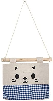 Ktyssp New Cotton Cartoon Cat Hanging Storage Bag Debris Pouch Wall Combination Packet – The Super Cheap