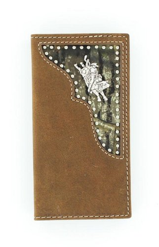 (Nocona Boy's Rodeo Bull Rider Concho Wallet, Medium Brown Distressed, OS )