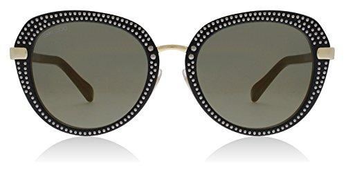 Jimmy Choo Women's Mori/S Black Gold/Brown Gold One - Choo Case Sunglass Jimmy