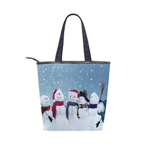 Las Navidad Muñeco Mydaily Totalizador De Bolso De De Lindo Mujeres Nieve Lona Bolso wvq7F71nZ