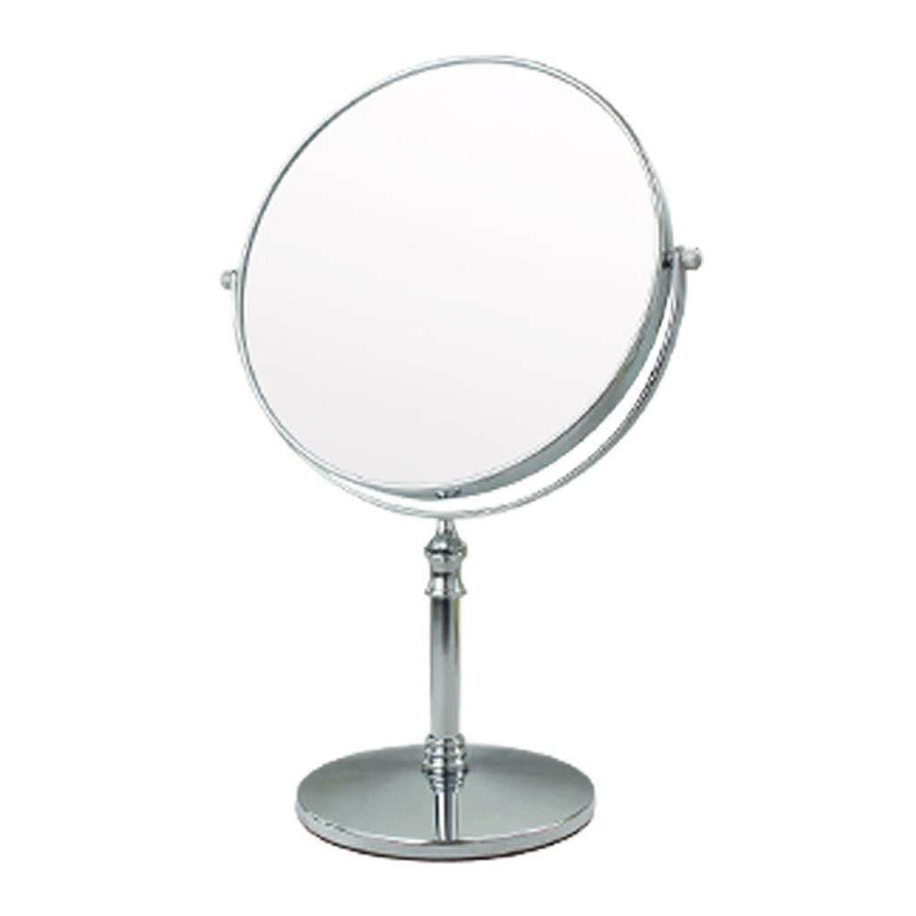 C&Q CQ Makeup Mirror Desktop Double-Sided Dressing Mirror Retro European Beauty Mirror Metal Silver Color Mirror by C&Q (Image #1)
