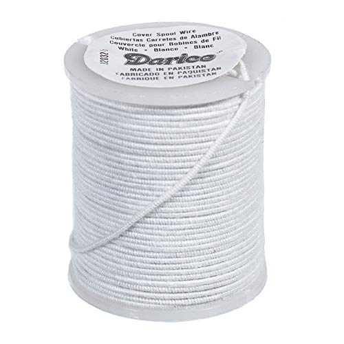 Paracord Planet Cloth Covered Wire - 30 Gauge, 10 Yards - for Jewelry, Floral, and Sculpture Uses (White) (Cloth Covered Floral Wire)