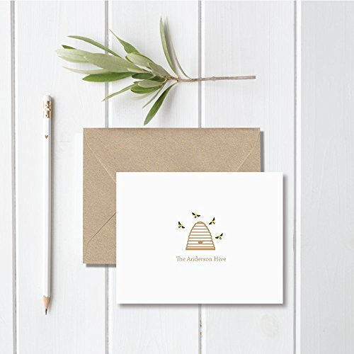Stationery Family - Personalized Family Stationery Cards Bees