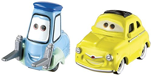 Disney/Pixar Cars, 2015 Radiator Springs Die-Cast Vehicles, Luigi & Guido #4,5/19, 1:55 Scale from Disney Cars Toys