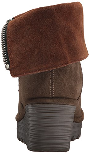 FLY London Women's Yex668fly Mid Calf Boot, Sludge/Camel Oil Suede, 41 M EU (10 US) by FLY London (Image #2)