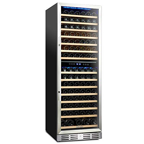 Kalamera 157 Bottle Freestanding Wine Refrigerator: Stainless Steel,...