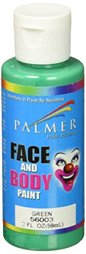 Palmer 56003-36 Face & Body Paint, 2 oz, Green