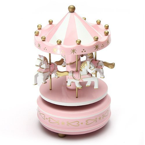 FUBARBAR Lovely Fairy Tale Style Carousel Music Box For Home Decoration Crafts Couples Valentine's Day Gift (Fairy Tale Couples)