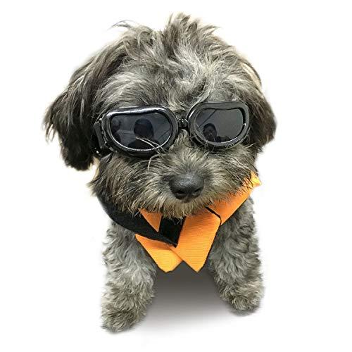 Namsan Sonnenbrillen für Hunde UV Schutzbrille Wasserdichter Einstellbar Hundebrille für Kleine Hunde/Katzen