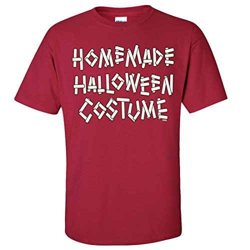 20's Homemade Costumes (Homemade Halloween Costume T-shirt/tee - Cardinal Red XX-Large)