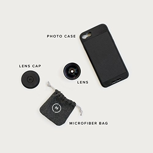iPhone 8 / iPhone 7 Case with Wide Lens Kit || Moment Black Canvas Photo Case plus Wide Lens || Best iphone wide attachment lens with thin protective case. by Moment (Image #6)
