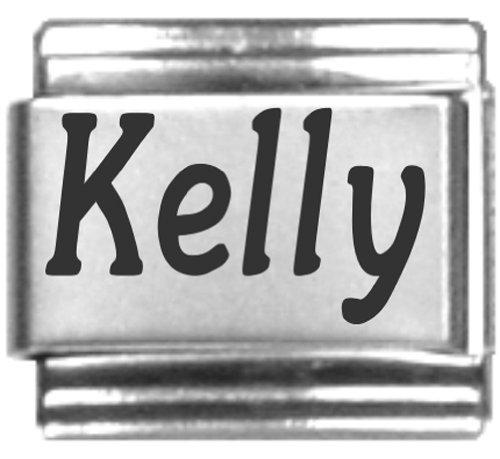 - Kelly Laser Name Italian Charm Link