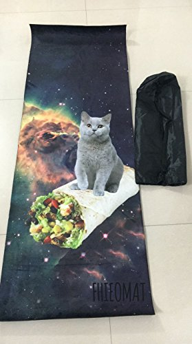 FHIEOMAT Unisex Cat And Mexican Chicken Roll Yoga And Pilates Mat Exercise Mat With Carrying Bag by FHIEOMAT (Image #1)