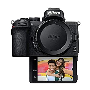 Nikon Z50 Compact Mirrorless Digital Camera with Flip Under Selfie/Vlogger LCD, Body