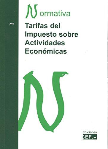 Descargar Libro Tarifas Del Impuesto Sobre Actividades Económicas Desconocido