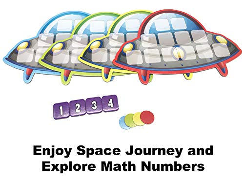 Board Game Maths War, Spaceship Exploration Card Game for Kids, Unlock Math Results Learning Equation for Teens Age 7 Years&Up and Families