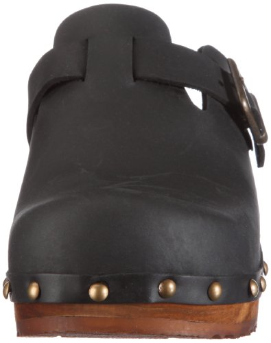 And Schwarz open Black Women's Kristel Clogs Sanita Mules 2 Wood 0wqZIfnxT