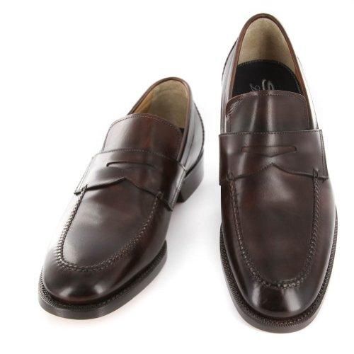 Nouvelles Chaussures En Cuir Marron Santoni 7 D / 5 F