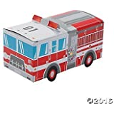 Fire Truck Party Favor Treat Boxes - 12 ct