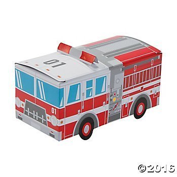 Fire Truck Party Favor Treat Boxes - 12 -