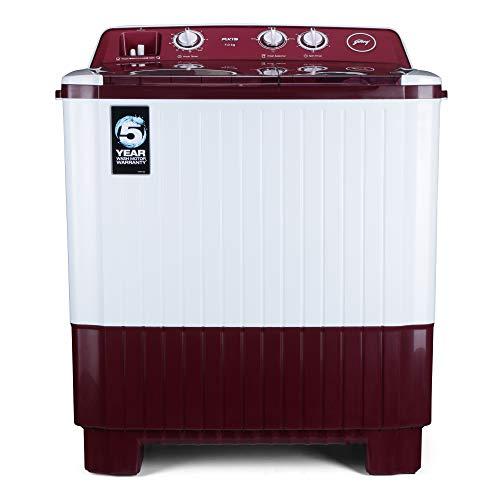Godrej 7 Kg Semi Automatic Top Loading Washing Machine  WSAXIS 70 5.0 SN2 T BR, Burgundy