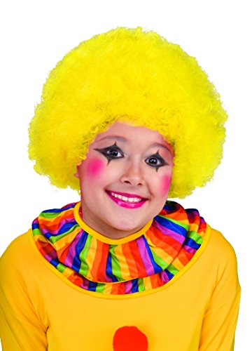 Unisex Afro Wig/ Assorted Color Clown Wigs, Yellow, One Size