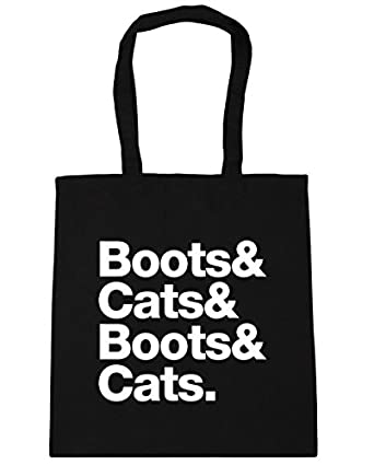 HippoWarehouse Boots & cats Tote Shopping Gym Beach Bag 42cm x38cm ...