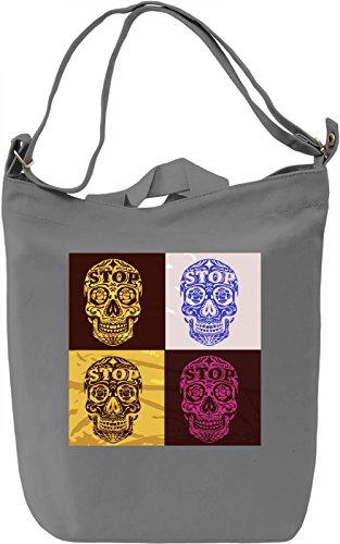 Pop Art Skulls Borsa Giornaliera Canvas Canvas Day Bag| 100% Premium Cotton Canvas| DTG Printing|