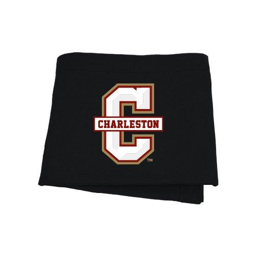 College of Charleston Black Sweatshirt Blanket 'Official Logo - C Charleston'