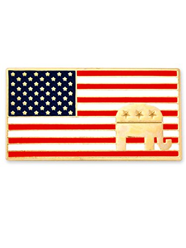 Republican Pin Elephant (PinMart American Flag Republican Elephant Patriotic Enamel Lapel Pin)