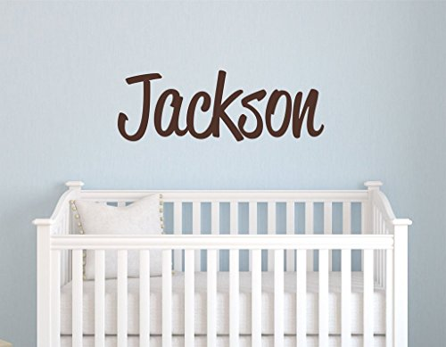 "Boys Nursery Personalized Custom Name Vinyl Wall Art Decal Sticker 28"" W, Boy Name Decal, Boys Name, Nursery Name, Boys Name Decor Wall Decals, Boy"