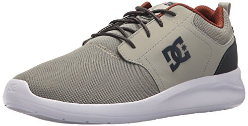 DC Mens Midway SN Skate Shoe Grey/Charcoal